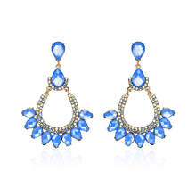 H:HYDE New Fashion 1pair Luxury Zircon Crystal Rhinestone Wedding Dangle Earring Long Tassel Earrings for Women Bridal Party