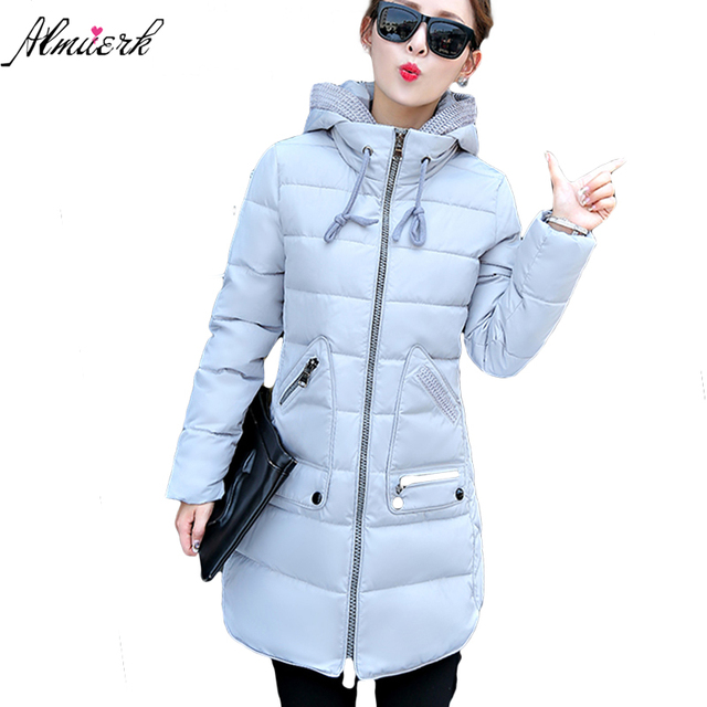 06f6310aed044 Plus Size 7XL Winter Jacket Women 2017 New Europe Style Hooded Slim Medium  Long Winter Big Size Parkas Female Top Coat YZ285