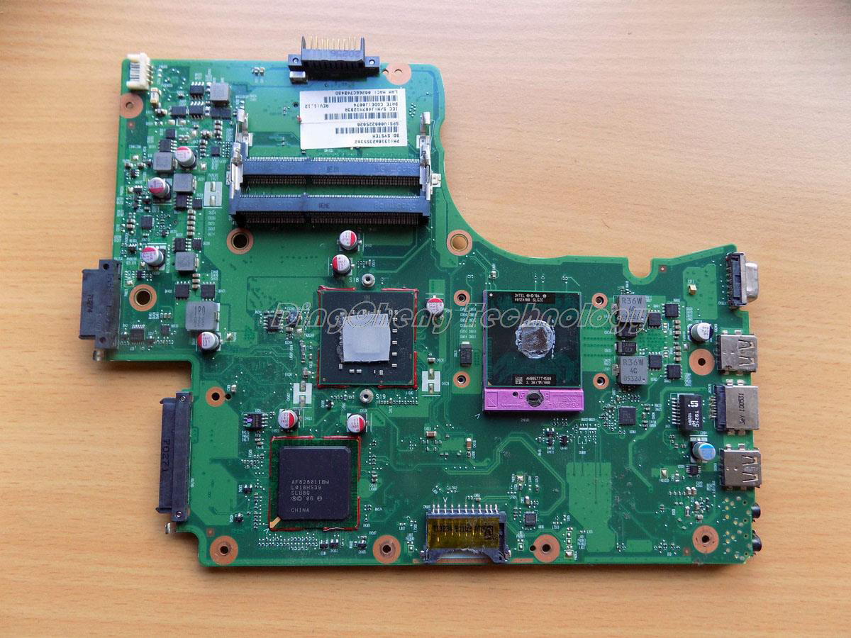 SHELI laptop Motherboard For Toshiba Satellite C650 C655 V000225020 GM45 DDR3 integrated graphics card 100% fully tested