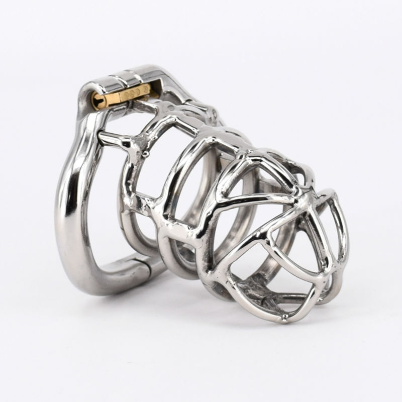 Extreme Confinement Chastity Cage Male Stainless Steel Chastity Device Metal Cock Cage Penis Lock Sex Toys For Men