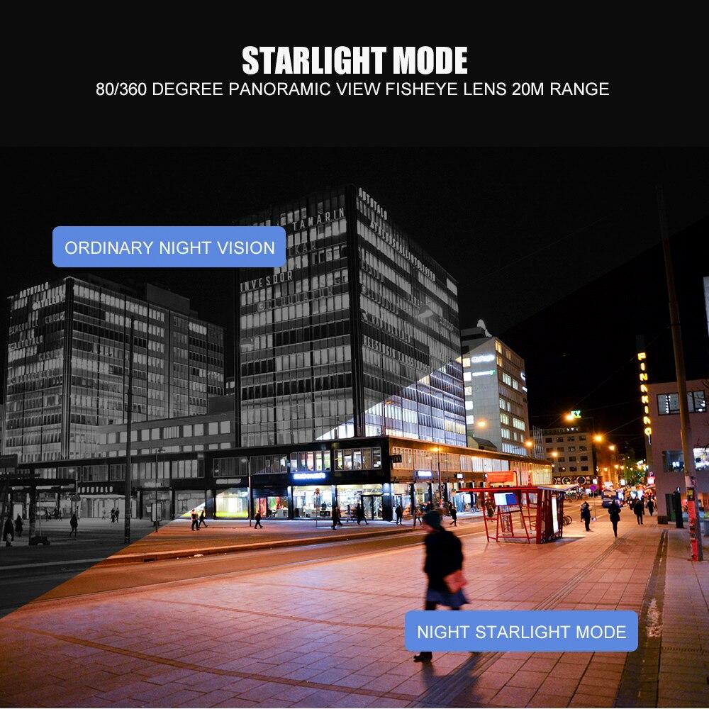 HD 2MP 1080 P POE Sternenlicht IP Kamera Outdoor 0.0001Lux Tag & Nacht Full Farbe, 5MP Fisheye Objektiv CCTV Überwachung Sicherheit Dome Cam
