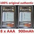 8 pçs/lote Original AAA 1.2 V 900 mAh Para aerfago recarregável AAA Ni-MH bateria + carregador de Caixa de Bateria Portátil