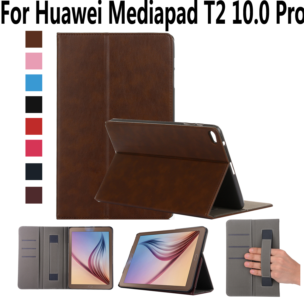 Hand Hold Premium Leather Case For Huawei Mediapad T2 10.0 10 Pro Cover High Quality Stand Smart Case for Huawei T2 10.0 Pro