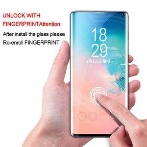 Image 2 - Folia ochronna hydrożelowa 100D UV do smartfonów z zakrzywionym ekranem, protektor wyświetlacza do telefonów Samsung Galaxy S8, S9, S10 Plus, Lite, Note 8, 9 i 10, szkło hartowane