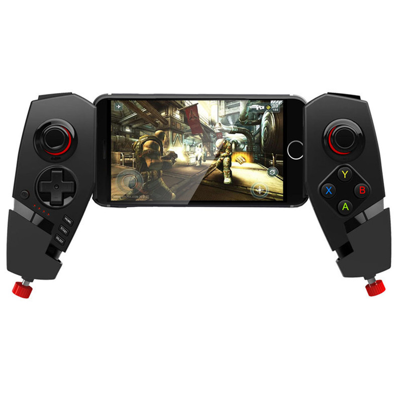 Portable IPEGA PG-9055 Wireless Bluetooth Game Controller Joystick with Stretch Bracket for iPhone Android Smartphone Tablet PC