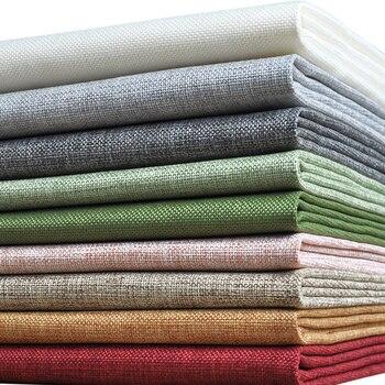 faux kleurrijke linnen stof goedkope doek pre-cut textil voor