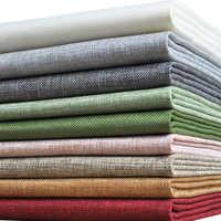 Tejido de lino de colores falsos tejido barato tejido pre-cortado Textil para costura de cortinas Por el metro Tecido Telas Por Metros Tissu