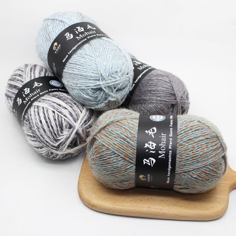 15 Pcs Di Lavoro A Maglia Del Filato Wol Mohair Filato Di Lana Commercio All'ingrosso A Mano Fai Da Te Ago Filo Crochet Fabbriche E Miniere