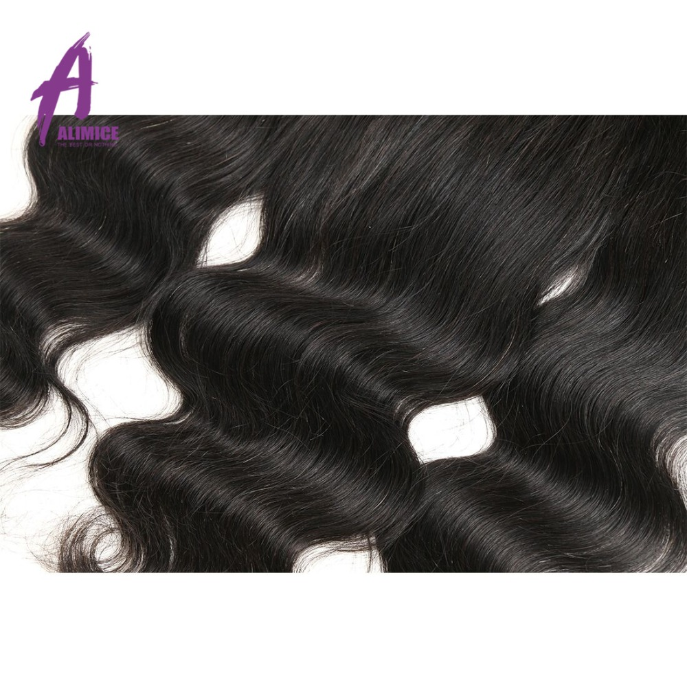 Alimice Lace Frontal Closure Indian Hair Body Wave 13x4 FreeMiddleThreeSide Part Human Hair Closure With Baby Hair 8-24inch (18)