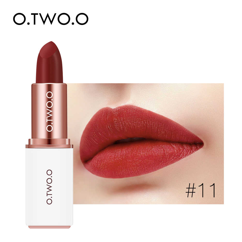O.TWO.O Lipstick Matte 12 Colors Long Lasting Lip Cream Sexy Red Velvet Lip Gloss Matte Waterproof Makeup Cosmetic