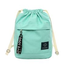 2019 New Fashion Canvas Drawstring Backpack Bag Cinch Sack Portable Casual String Sackpack Rucksacks cinch sack page 7