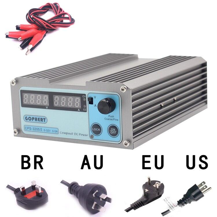 CPS 3205II источник питания постоянного тока Регулируемый цифровой мини лаборатории питания 32 В 5A 0,01 В 0.001A Напряжение регулятор питания постоян...