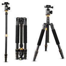 2016 nueva actualización q999s fotografía profesional rotula + trípode de aluminio portátil para monopie para la cámara canon nikon sony dslr