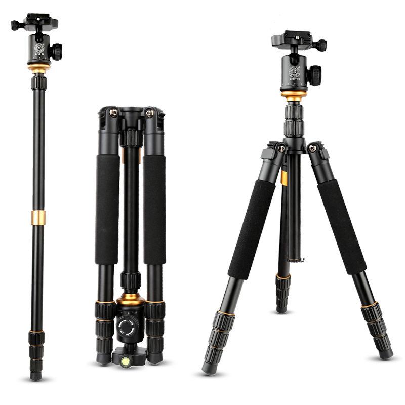 2017 New Q999S Photography Tripod Professional Portable Aluminum Ball Head Tripod To Monopod For Canon Nikon