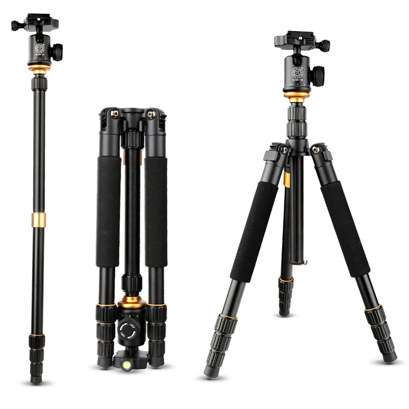 QZSD Q999S Photography Tripod Monopod for Camera with Professional Aluminum Ball Head + Bag for Canon Nikon Sony DSLR Camera new upgrade q999s professional photography portable aluminum ball head tripod to monopod for canon nikon sony dslr camera