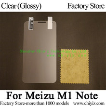 Clear Shiny Display Protector Guard Cowl protecting Movie For Meizu M1 Observe / Meizu Meilan Observe M463M M463c M463U