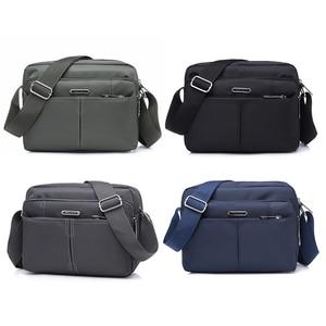 Image 4 - DECRJI 2020 Fashion Men Nylon Messenger Bag Waterproof Style Male Shoulder Crossbody Bags Designer High Quality Bolsa Masculina