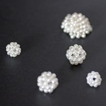 2pcs korea temperament pearl ball fashion earrings material pendant charm pearl ball earrings for women diy jewelry accessories fuzzy ball faux pearl chain earrings