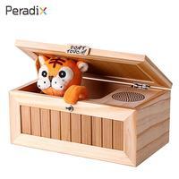 מצחיק נמר ילדי מתנות עץ טריקים צעצוע חשמלי קופסא עץ חסר תועלת אלקטרוני תיבת נמר נמר ילדי תיבת תיבת משעמם גאדג 'טים