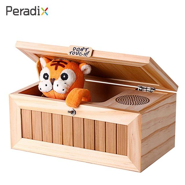 Us 3278 Funny Tiger Box Electric Wooden Tricks Toy Kids Gifts Wood Useless Box Electronic Tiger Box Kids Gadgets Boring Box Tiger In Gags