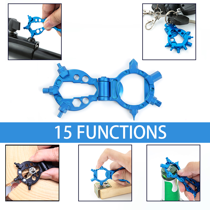 2019 New Bushcraft EDC  Multi Tool Bottle Opener Fold Portable Compact Keychain Tool Gadgets Inteligentes Pocket Tool
