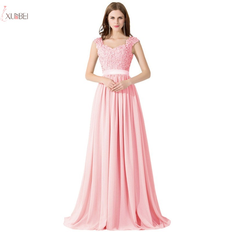 2019 Burgundy Chiffon Long   Bridesmaid     Dresses   Applique Sleeveless Wedding Party Gown robe demoiselle d'honneur