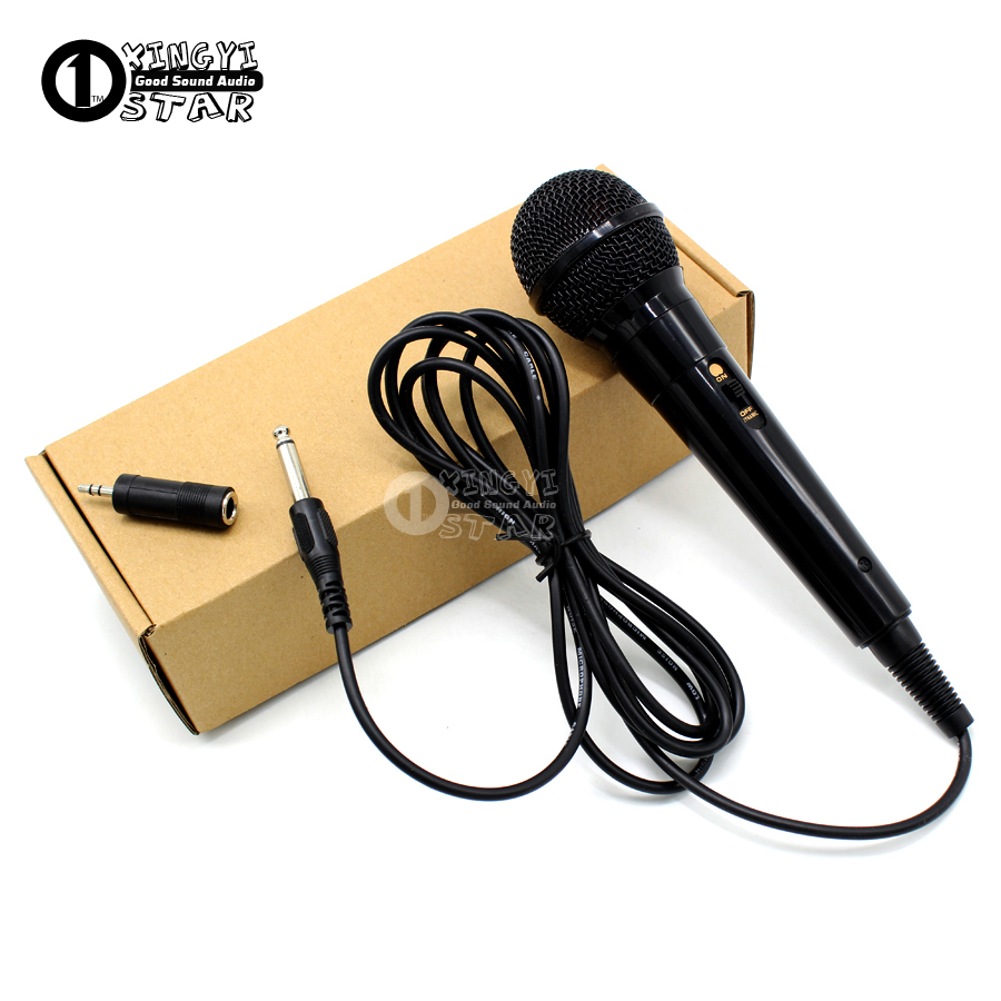 6.5mm Plug Handheld Wired Microphone 3.5mm Jack Vocal Dynamic Mic Microfone For Computer Karaoke Mixer Audio PA Power Amplifier