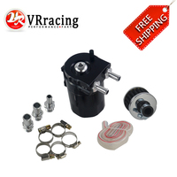 VR RACING - FREE SHIPPING Universal Baffled Aluminum Oil Catch Can Reservoir Tank / Oil Tank With air Filter VR-TK64