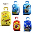"Lovely kids tourism luggage suitcase variety cartoon Travel 18""ABS anime trolley case children gift Universal wheel Boarding box"