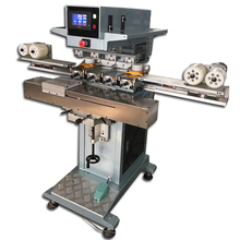 automatic 4-color pad printing machine, ink cup pad printing machine 4 color