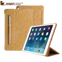 Jisoncase Luxury Leather Smart Cover For IPad Pro 9 7 Flip Folio Tablet Case With Pencil