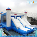 Commercial Grade Inflatable Trampoline Bounce Double Slide Castle With Blowers