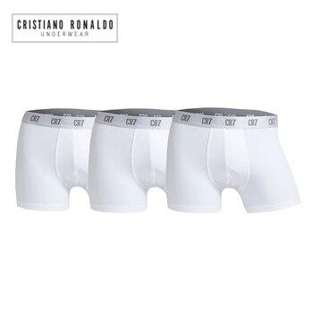 9113f54d9eeb 6 unids/lote Cristiano Ronaldo Cr7 boxeador de los hombres pantalones cortos  de algodón de la ropa interior Sexy ropa interior marca tirar en  calzoncillos ...