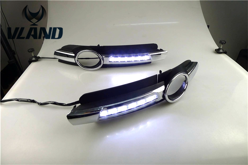 Free shipping for car fog lamp for AUDI A6 C6 LED Daytime Running lights with Fog Lamp hole year 2005 2006 2007 2008 aftermarket free shipping motorcycle parts eliminator tidy tail for 2006 2007 2008 fz6 fazer 2007 2008b lack