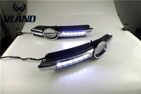 Free shipping for car fog lamp for AUDI A6 C6 LED Daytime Running lights with Fog Lamp hole year 2005 2006 2007 2008