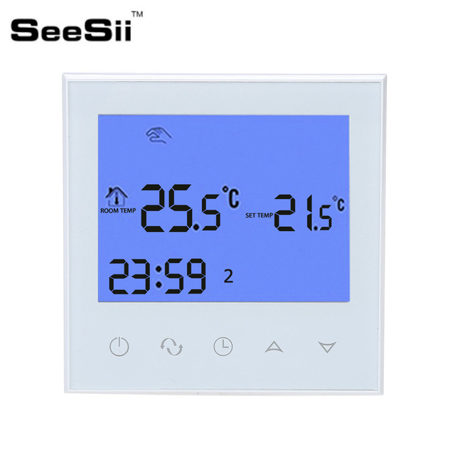 Seesii Programmierbare Thermostat Heizung Temp Wifi Lcd Touch Screen