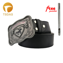 Fashion Mens Designer Cowgirl Up Belt Buckle Metal 3D Silver Cowboys Belt Buckles With Pin Buckles