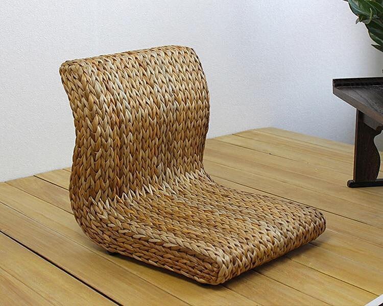 Φ_ΦHecho a mano japonés planta legless silla hecha de hojas de ...