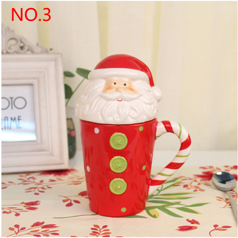 aliexpresscom buy red ceramic christmas mugs santa christmas deer snowmen penguin personalized cute cartoon mugs cup 300 400ml best christmas gift from - Cheap Christmas Mugs