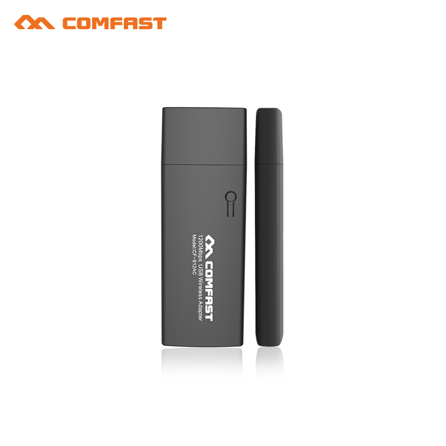2018 Comfast 1200Mbps RTL8812AU dual-band 2.4GHz+5.0GHz USB Wireless adapter WIFI Dongle Wi Fi Receiver for MAC/LINUX/Windows7/8