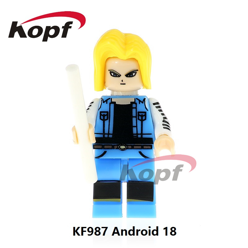 Single Sale Android 18 Launch Black Goku Dragon Ball Z Figures Broly Super Sayayin Building Blocks Children Gift Toys KF987