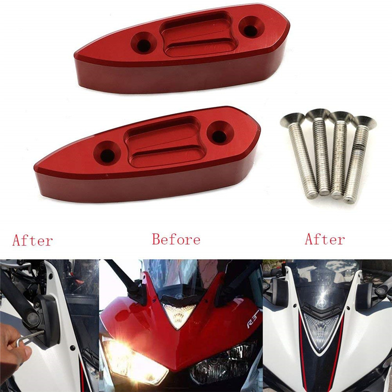 Loyaal Voor Yamaha Yzf-r3 Yzf-r25 2014 2015 2016 2017 Yzfr3 Yzfr25 Yzf R3 Spiegel Riser Extenders Spacers Uitbreiding Adapter Adapter Kit