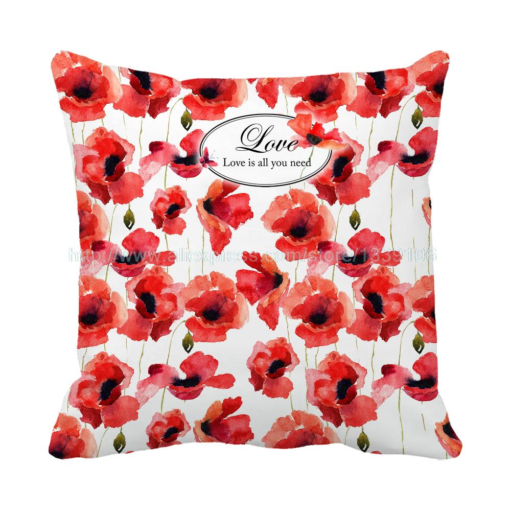 all modern pillows promotionshop for promotional all modern  - love is all you need print custom accent watercolor floral cushion for sofasweet hom decor bed decorative throw pillows cojines
