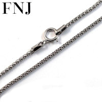 GZ 3MM Corn Chain Necklace For Women Men 100 Real 925 Silver Accessorice S925 Thai Solid