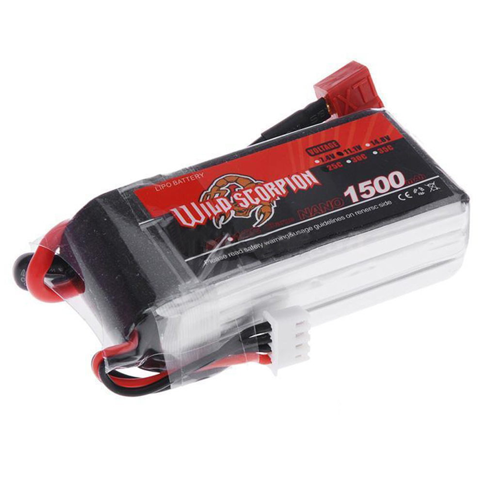 россия платье s 25 max Wild Scorpion 1500mAh 25C MAX 35C 3S T Plug Lipo Battery for RC Car Plane
