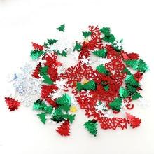 15g Mix Color Christmas Snowflake Elk Christmas Tree Santa Claus Tinfoil Sequins Christmas Gift DIY Home Decoration elk snowflake geometric print christmas hoodie