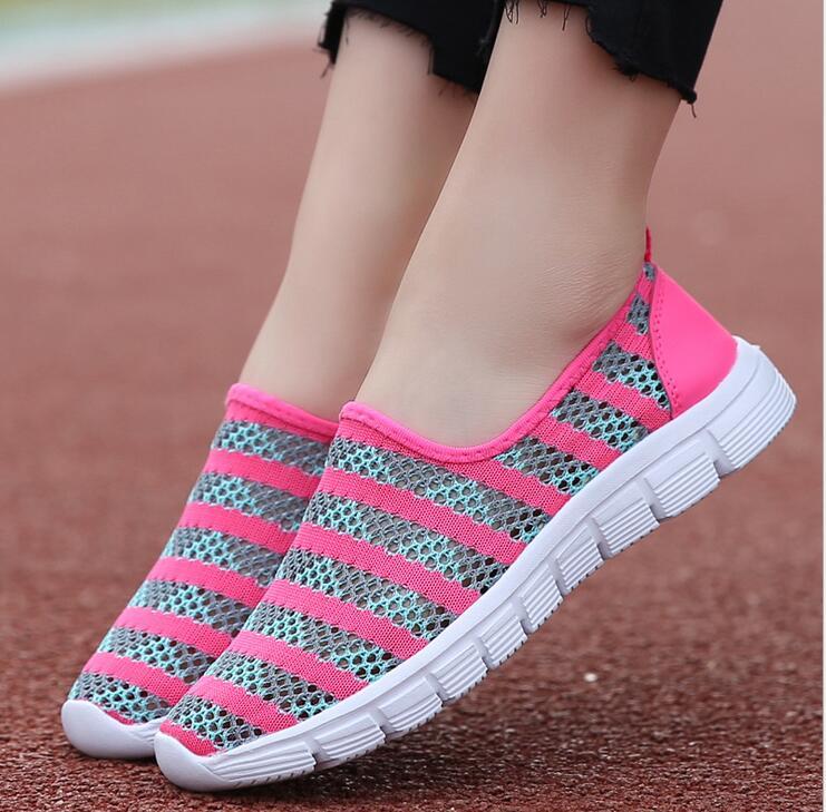 2018 fashion Lightweight women shoes mesh Breathable Light women sneakers tenis feminino casual shoes woman Basket shoes