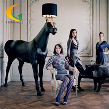 HGhomeart minimalist modern creative lamp horse Led floor lamp hotel project in Malaysia KTV bar villa floor lamps