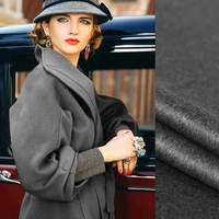 Качество 150 см шириной 830 г/м Вес double faced серый Толстый кашемир осень зима пальто Верхняя одежда, куртки Ткань J012