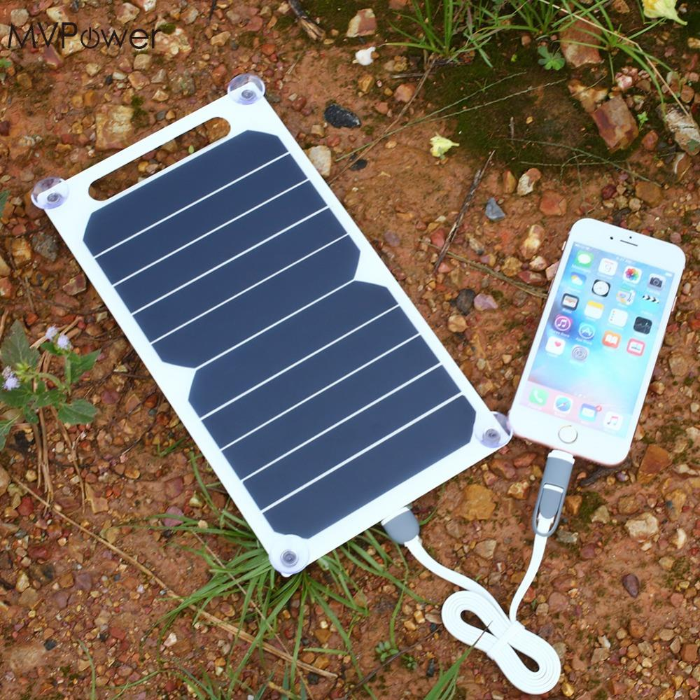 MVPower 5V 5W Solar Panel Bank Solar Power Panel USB Charger USB for Mobile Smart Phone
